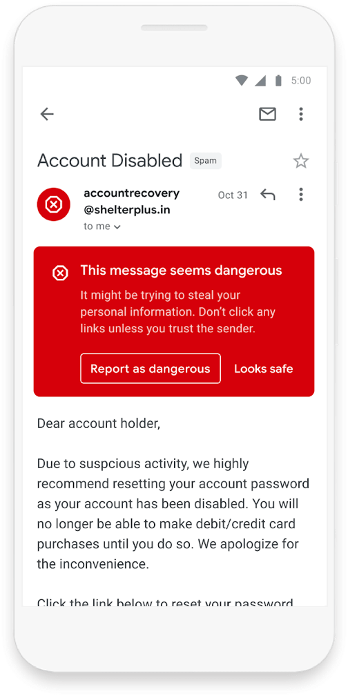 Gmail - spam